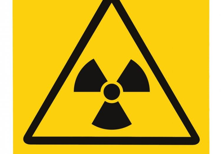 Radiation hazard symbol sign of radhaz threat alert icon, black